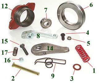 MF Dual Clutch Components - Bare Co USA
